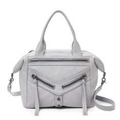 Botkier 'Trigger Convertible' in steel The slouchy leather adds a touch of urbane luxe to the classic Trigger. The unique shape moulds depending on if you sling it over your shoulder or detach the strap and carry it by the double handles.