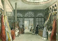 Regency shopping: Fashion and Fabrics. Linen-draper Harding Howell & Co at Pall Mall, 1809.