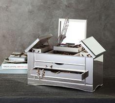 McKenna Leather Large Jewelry Box Blush Large jewelry box Box