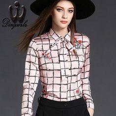 casual female office blouse shirt women clothing long sleeve chiffon blouse elegant lady fashion printed chiffon tops large size