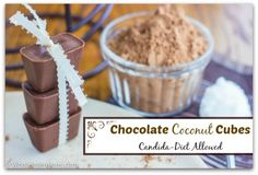 Chocolate Coconut Cubes (Candida Diet Allowed) - Whole Intentions
