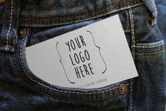 Card on Jeans Free Mockup thumb