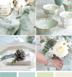 The Perfect Palette: {party palette}: grayed jade, hints of green + silver