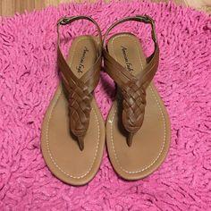 f0354b2243 Braid sandal Brown braid sandal American Eagle by Payless Shoes Sandals  Braided Sandals, Brown Sandals