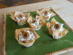 Phyllo pastry appetizers