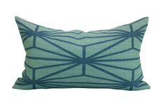 Kelly Wearstler Katana pillow cover in Jade/Teal by sparkmodern