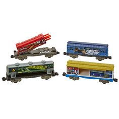 POWER CITY TRAINS Marvel Avengers Toy Train Cars 4Pack * Click image to review more details.