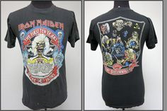 Vintage Iron Maiden Paper Thin T-shirt by schippervintage available on Etsy!