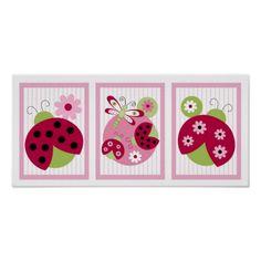 Shop Sweetie Pie Ladybug Dragonfly Nursery Wall Art created by little_prints. Ladybug Nursery, Baby Ladybug, Nursery Paintings, Nursery Wall Art, Girl Nursery, Nursery Ideas, Room Ideas, Ladybird Drawing, Framed Artwork