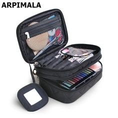 2017 Luxury Cosmetic Bag Professional Makeup Bag Travel Organizer Case Beauty Necessary Make up Storage Beautician Box