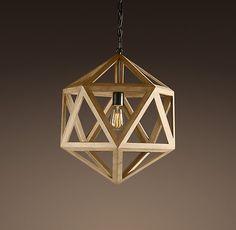 geometric pendant.