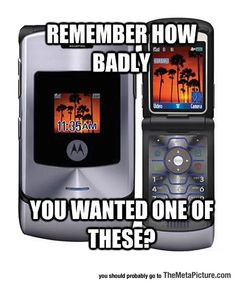 You Know You Actually Did.  This was the more expensive version of the Razr, I had the pink version of this phone.