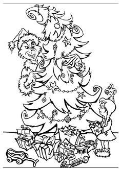 Grinch Christmas Coloring Pages Printable Free Printable Grinch