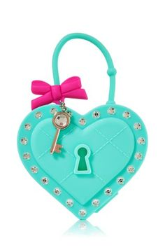 Bath & Body Works Tufted Heart Locket w/ Key Scentportable Car Freshener Hanger Heart Day, Key To My Heart, Emoji School Supplies, Hand Sanitizer Holder, Car Freshener, Home Candles, Valentines Day Hearts, Heart Locket, Kiss Makeup