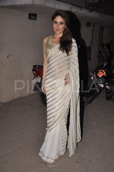 Kareena Kapoor Khan glam saree with detailed blouse