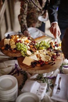 Cheese Display Idea-but crackers and breads on the side so they don't get soggy Cheese Table, Cheese Platters, Food Platters, Serving Platters, Wine And Cheese Party, Wine Tasting Party, Cheese Fruit, Meat And Cheese, Antipasto