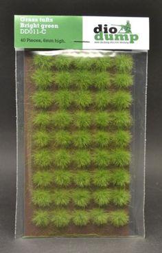 DioDump-DD011-C-6mm-realistic-grass-tufts-BRIGHT-GREEN-45-pcs-diorama-scenery
