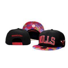 Mitchell Ness Chicago Bulls Confetti Flower Hats - Black 6246