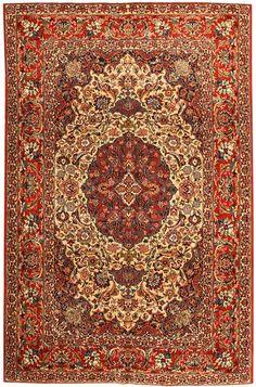 Antique Esfahan Persian Rug 43281 Main Image - By Nazmiyal