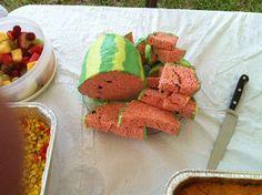 Rice Krispie Watermelon Treats! Cute!