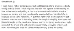 """This thing that definitely happened when James and Lily were new parents. 