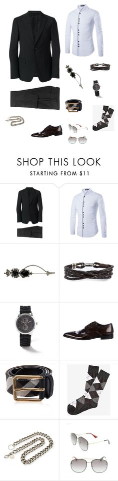 """""""Blackout"""" by frestylen on Polyvore featuring Z Zegna, Alexander McQueen, Paul Smith, Topman, Dolce&Gabbana, Burberry, Express, Gucci, men's fashion and menswear"""
