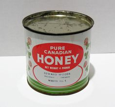 Your place to buy and sell all things handmade Vintage Love, Vintage Items, Pure Honey, Storage Containers, Coffee Cans, Ontario, Tin, Pure Products, Canning