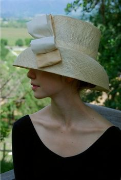 natural straw summer hat for women with twotone by FINKAmendocino, $235.00