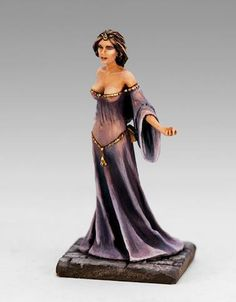 Diaphanous clothing -- Lannister Lady in Waiting, from Dark Sword Miniatures George RR Martin Master Series 28mm Miniatures, Fantasy Miniatures, Tabletop, Fantasy Model, Sci Fi Models, Lady In Waiting, Miniature Figurines, Mini Paintings, Figure Model