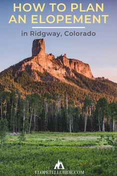 Ridgway, Colorado is a small town secret for adventure elopements! This Rocky Mountain destination is AMAZING for mountain weddings in summer sunsets, fall colors or winter snow. Our guide will help you with choosing a season, things to do on your honeymoon, travel planning tips, photography inspiration and more. Our team helps you plan a stress free ceremony with location recommendations, photo ideas, and packages to fit your budget. #ridgway #Colorado #coloradoelopement #elopement #wedding