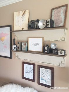 Vintage Camera Collection & Gallery Wall- gallery wall ideas- collectibles- vintage camera collection- collecting cameras- wall styling