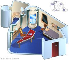 "Captain Picard's ready room - U.S.S. Enterprise NCC- 1701 E - ""Star Trek First Contact"""