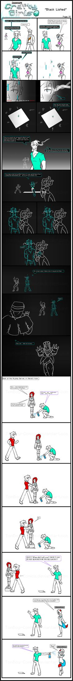 Minecraft Comic: CraftyGirls Pg 97 by TomBoy-Comics on DeviantArt