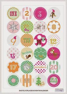 [DIY Noël] Inspirations #1 : des etiquettes, calendriers de l'avent et illustrations à imprimer ♡: