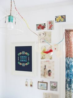 Dottie Angel's home, with Home Sweet Home print from One Little Bird Studio
