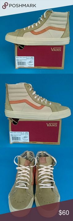 BRAND NEW  VANS  SNEAKER 100%AUTHENTIC SK8-HI  SLIM CUTOUT UNISEX. MEN'S :9.5. WOMEN: 11 (MESH)  PORT/TRUE WHITE ORIGINAL PRICE. $ 115 REASONABLE OFFER IS WELCOMED NEW  WITH BOX Shoes Boots