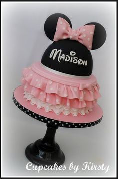 Minnie Mouse Two Tier Cake by Kirsty - my favorite yet!
