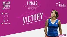11/13/16 Via WeAreTennis  ·      Czech Republic ties at 2-2! Barbora #Strycova beats Alizé #Cornet 6-2 7-6. Here we go for a decisive doubles! #FedCupFinal #FRACZE