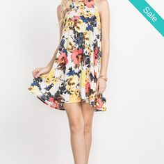 IN STORE The Perfect Floral Sundress Dress - Oh so soft easy breezy dress. Sleeveless style. - On Sale for $38.00 (was $48.00) ~ Monday Specials ~ * 10% off Website Pre-Orders - MUST PLACE in store by calling or stopping by 704-380-4983 ~10% off our already discounted price!~ * All In Store Tops 20% off All Brands Excludes sales rack  * $30 off Tux's in April & May Call for your appt 704-380-4983