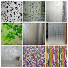 Privacy Window Static Cling Film Treatments Decorative Color Stained Glass 3ft | eBay