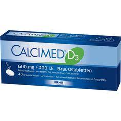 CALCIMED D3 600 mg-400 I.E. Brausetabletten:   Packungsinhalt: 40 St Brausetabletten PZN: 09750122 Hersteller: HERMES Arzneimittel GmbH…
