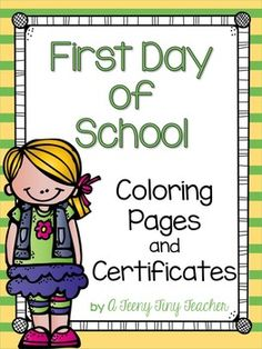 These printables can be used on the first day of school. Students can trace and color while you talk to parents and get the day underway. The certificates can be handed out at the end of the day. It's a great way to end the day on a positive note! The certificates are offered in both b/w and c...