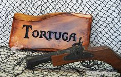 Tortuga Pirates Sign Carved Wood Pirates of by TheJollyGeppetto