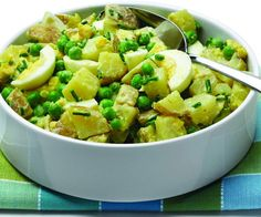 Recipe: Creamy Potato Salad with Egg, Peas, and Chives