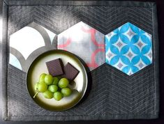 quilted hexagon placemats