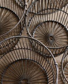 Lostine - big baskets -set of four Vintage Wire Baskets, Metal Baskets, Africa Craft, Bountiful Baskets, Big Basket, Leather Stool, Wire Storage, Wood Lamps, Wire Art