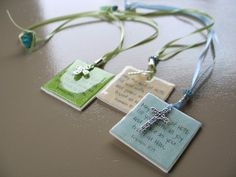 Before Christmas I gave you a peek at this craft - scripture beaded ribbon bookmarks :  Lots of you wanted to know how to do them, so I put ...