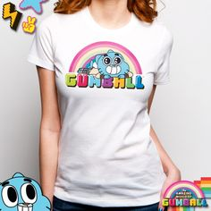 ShopGoodie.com - The Amazing World of Gumball - Ladies Sweet Rainbow T Shirt, $24.95 (http://shopgoodie.com/the-amazing-world-of-gumball-ladies-sweet-rainbow-t-shirt/)