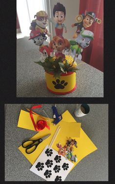 Paw patrol birthday party table centerpiece