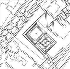 Aerial Outline Map Of Istanbuls Blue Mosque From City Maps A Coloring Books For Adupts By Gretchen Peterson 2016 Adult Colouring Book
